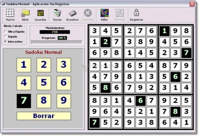 Pantallazo Killer Sudoku