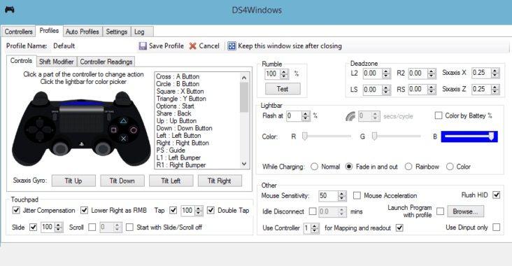 Pantallazo DS4Windows
