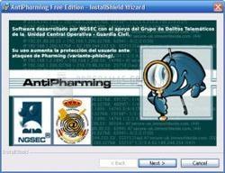Pantallazo AntiPharming