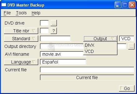 Pantallazo DVD Master Backup