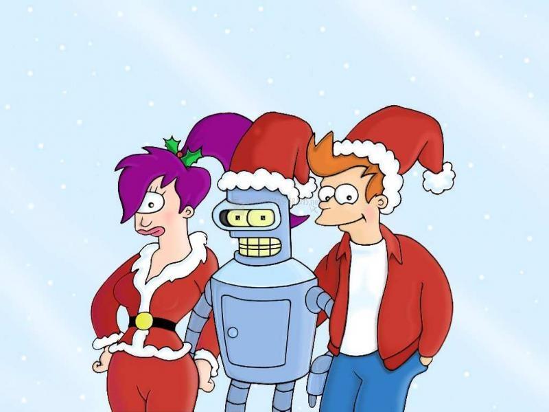 Pantallazo Fondo Navidad en Futurama