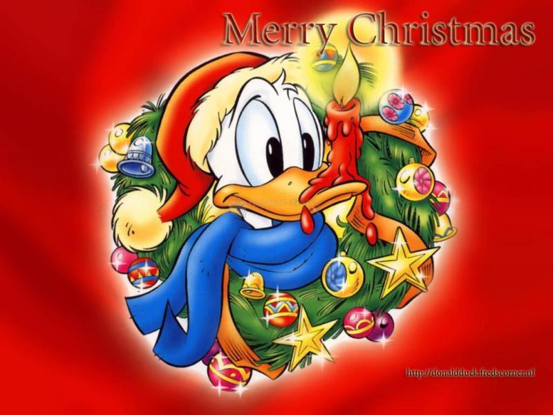 Pantallazo Fondo del Pato Donald en Navidad
