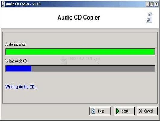 Pantallazo Audio CD Copier
