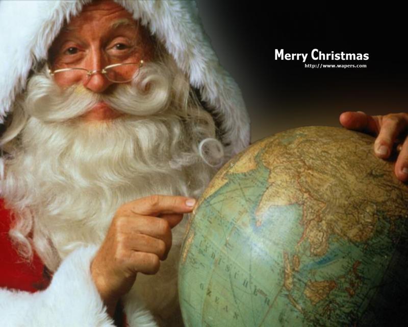 Pantallazo Fondo Papa Noel Merry Christmas