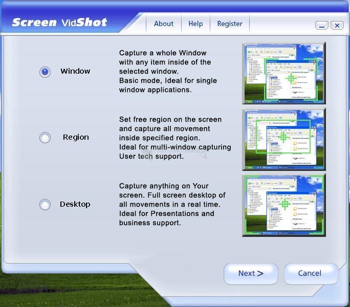 Pantallazo Screen VidShot