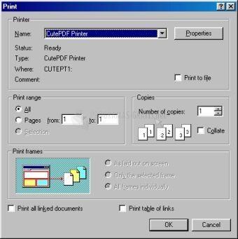 Pantallazo CutePDF Printer