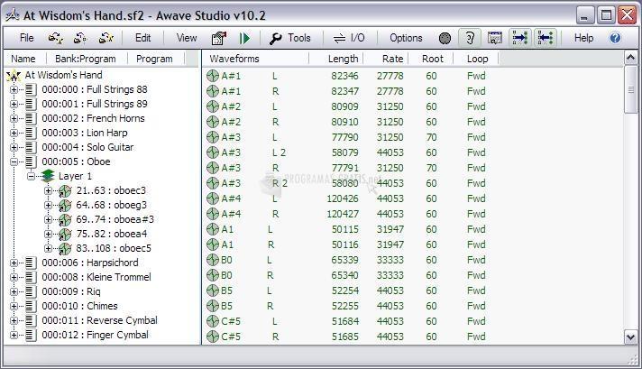 Pantallazo Awave Studio