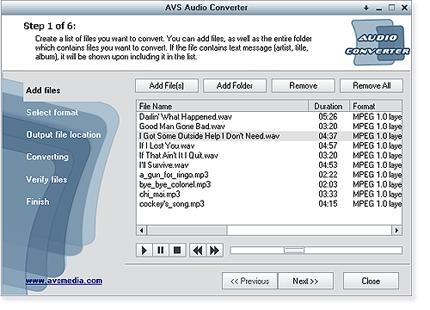 Pantallazo AVS Audio Tools