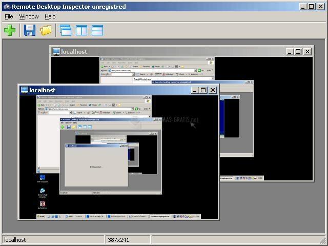 Pantallazo Remote Desktop Inspector