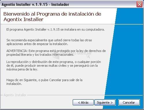 Pantallazo Agentix Installer