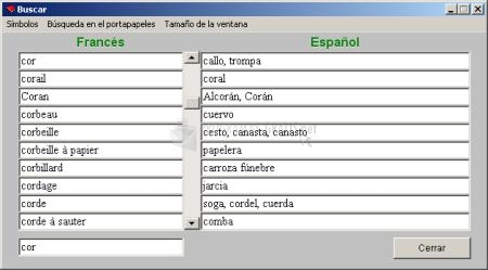 Pantallazo Diccionario Freelang
