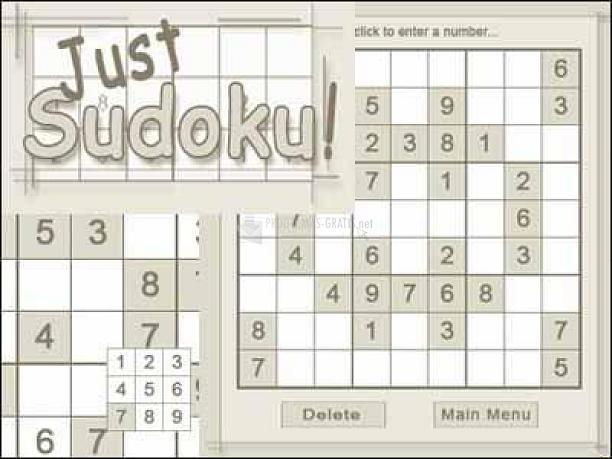 Pantallazo Just Sudoku