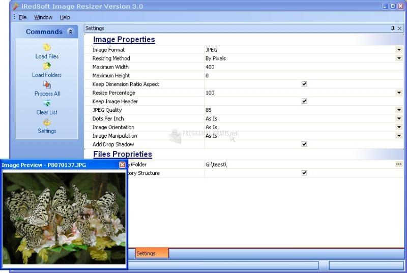 Pantallazo iRedSoft Image Resizer
