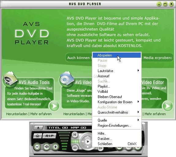 Foto AVS DVD Player