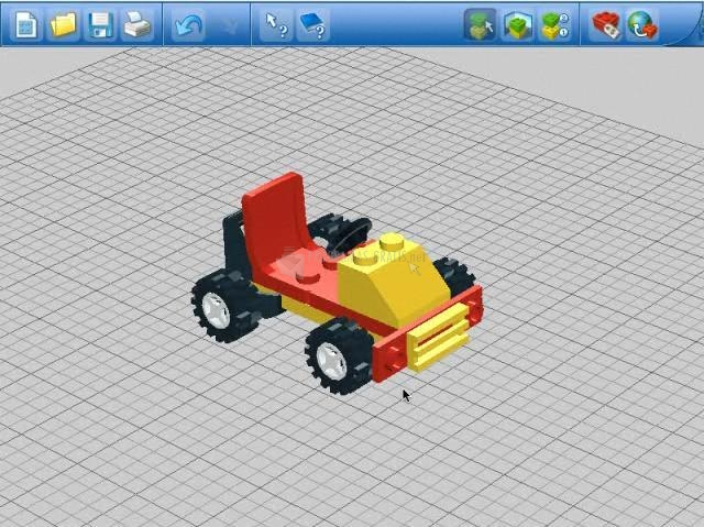 Pantallazo LEGO Digital Designer