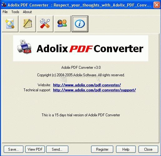 Captura Adolix PDF Converter
