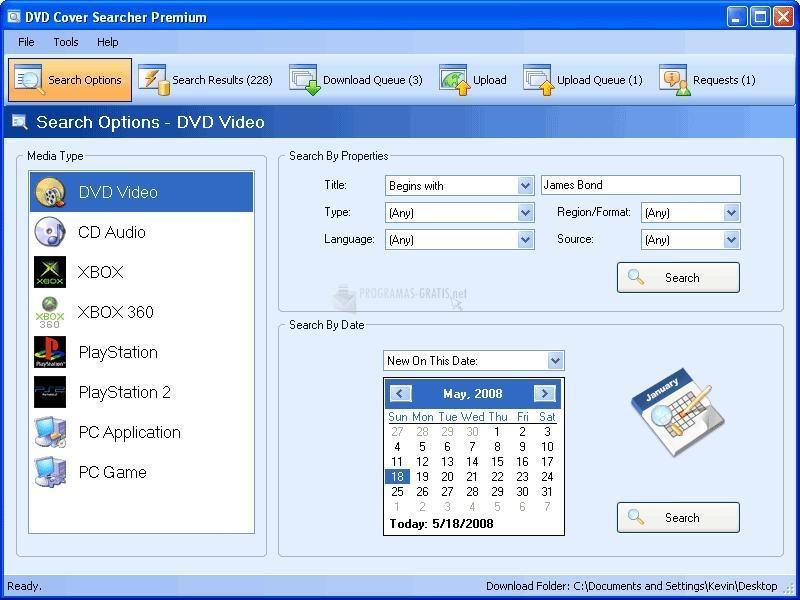 Pantallazo DVD Cover Searcher