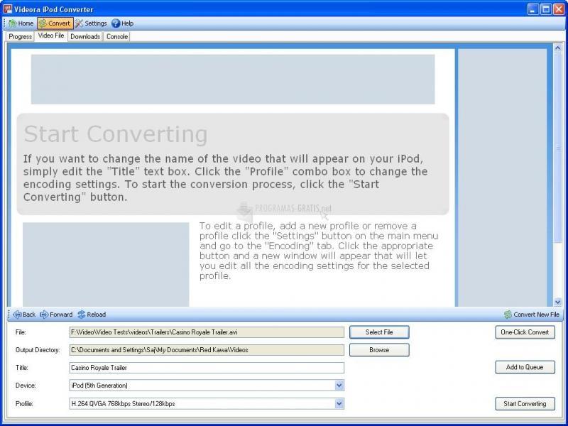 Pantalla Videora iPod Converter