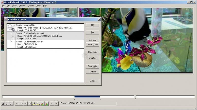Pantallazo VirtualDubMod