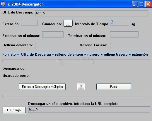 Pantallazo Descargator