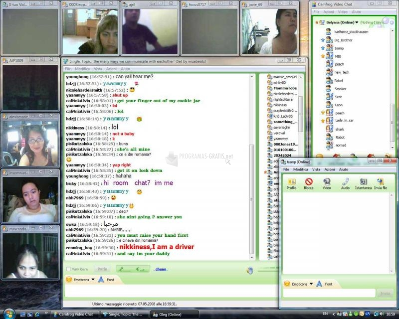 Pantallazo CamFrog Video Chat