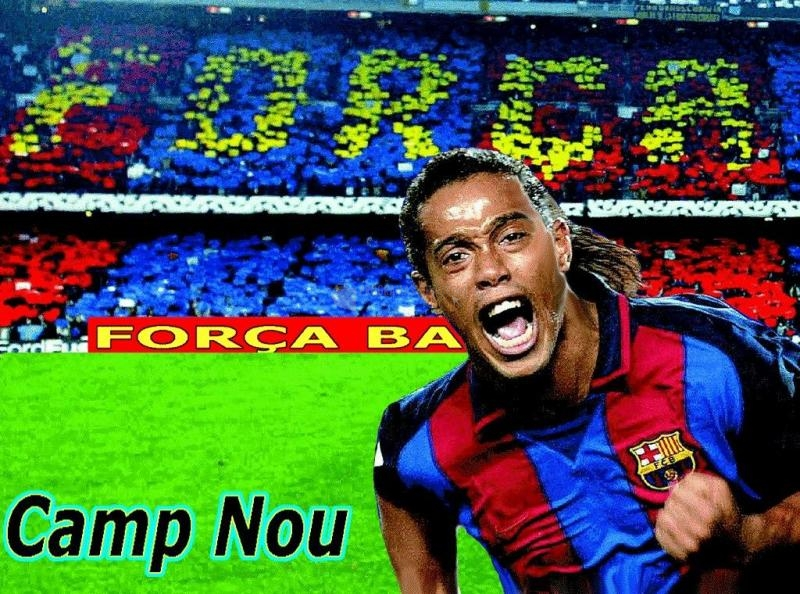 Pantallazo Fondo F.C . Barcelona: Ronaldinho
