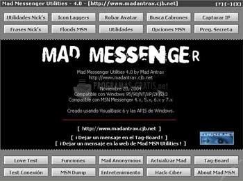 Pantallazo Mad Messenger Utilities