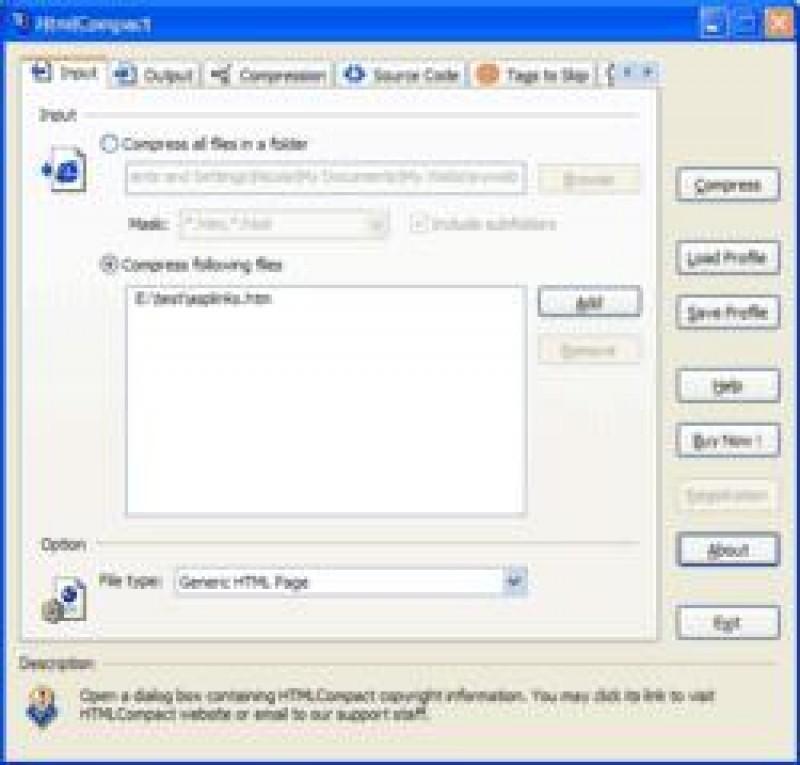 Pantallazo HTML Compact