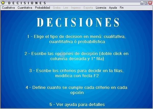 Pantallazo Decisiones