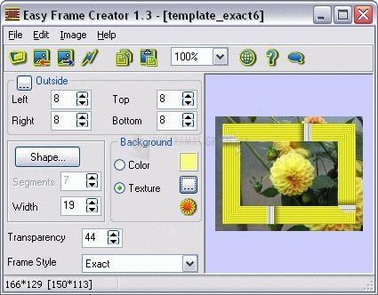 Pantallazo Easy Frame Creator