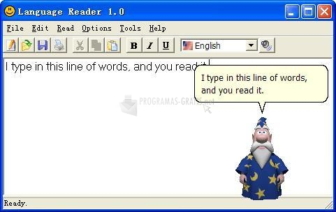 Pantallazo Language Reader