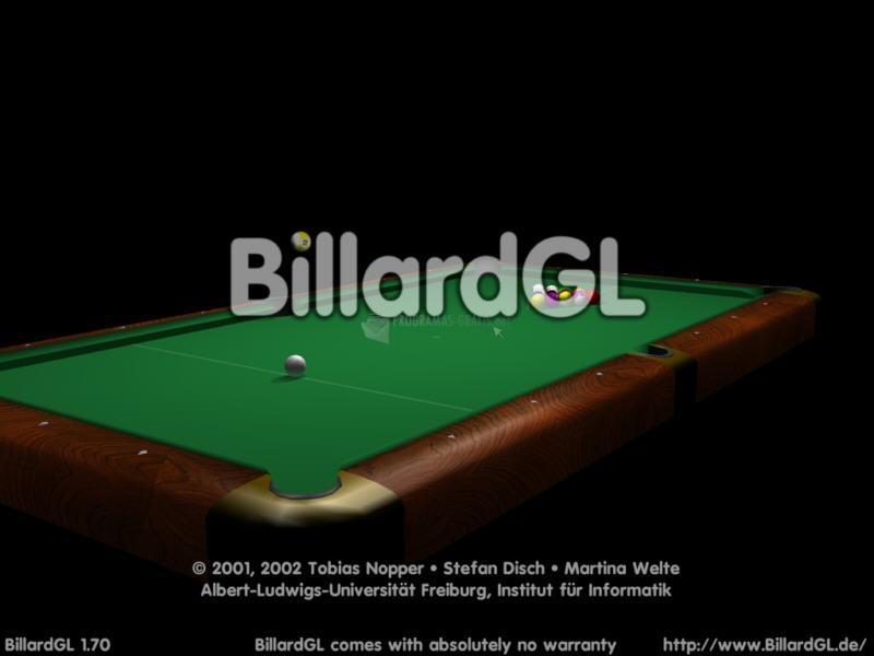 Pantallazo BillardGL