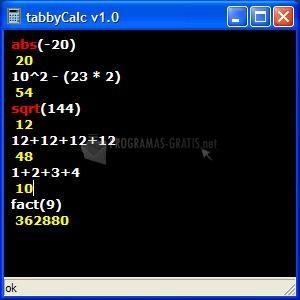 Pantallazo TabbyCalc