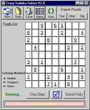 Pantallazo Crazy Sudoku Solver