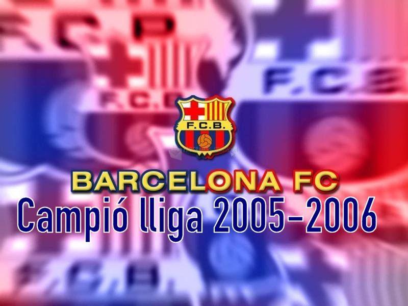 Pantallazo F.C. Barcelona Campeones de Liga 2006