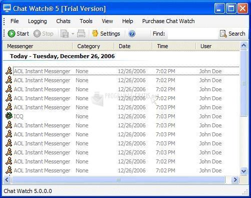 Pantallazo Chat Watch