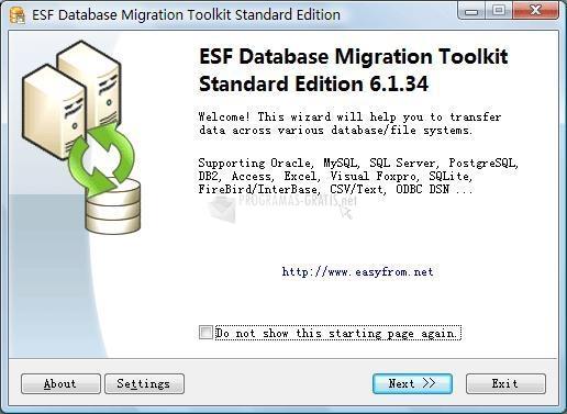 Pantallazo ESF Database Convert