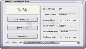 Pantallazo BitTorrent Acceleration Patch