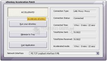 Pantallazo eDonkey Acceleration Patch