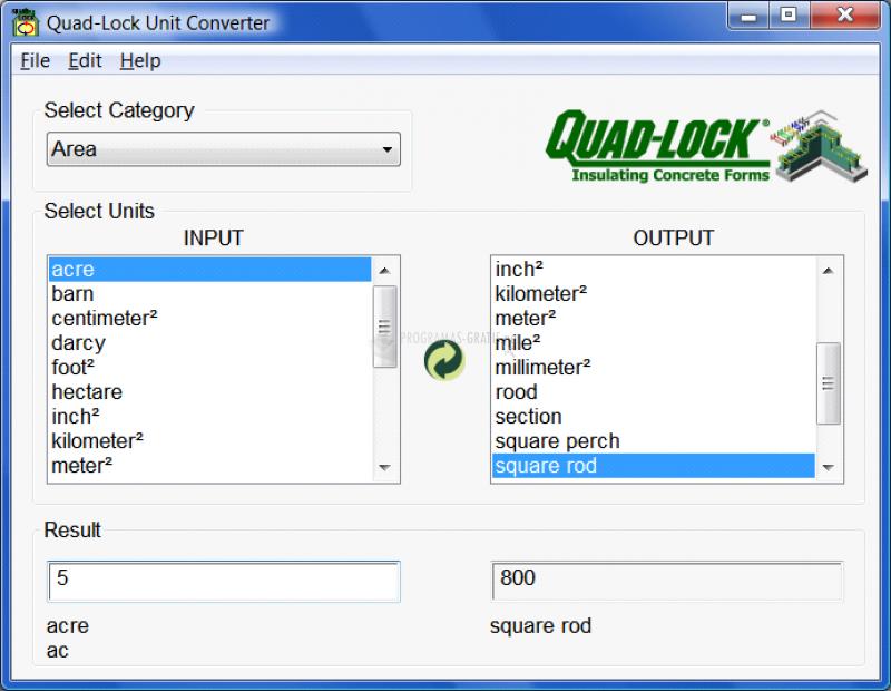 Pantallazo Quad-Lock Unit Converter