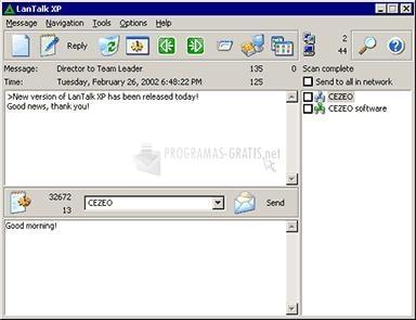 Pantallazo LANTalk XP