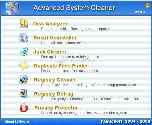 Pantallazo Advanced System Cleaner