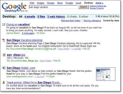 Pantallazo Google Desktop Search