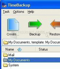 Pantallazo TimeBackup