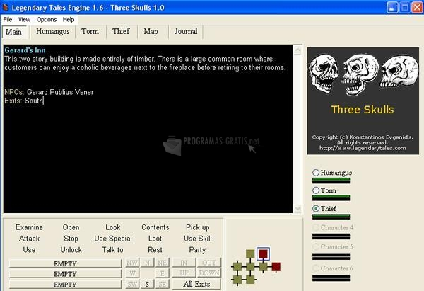 Pantallazo 3 Skulls RPG