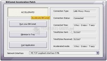 Pantallazo BitComet Acceleration Patch