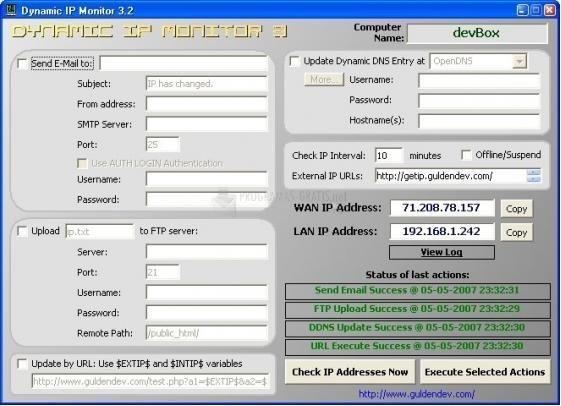 Pantallazo Dynamic IP Monitor