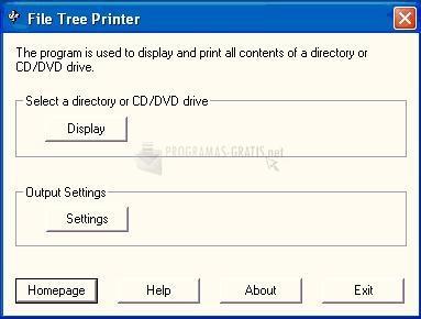 Pantallazo File Tree Printer