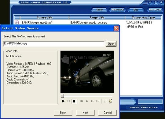Pantallazo Easy Video Converter