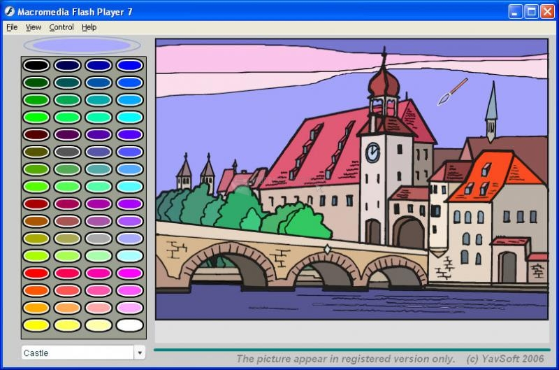 Pantallazo Online Magic Colouring